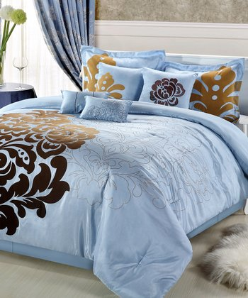 Blue & Brown Regina Comforter Set