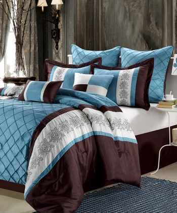 Blue Omma Comforter Set