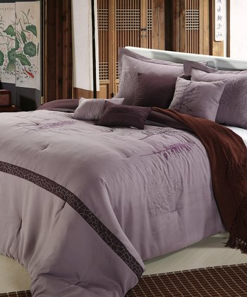 Plum Katherine Queen Comforter Set