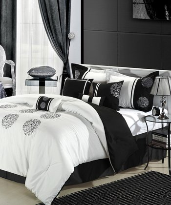 Black & White Burst Comforter Set