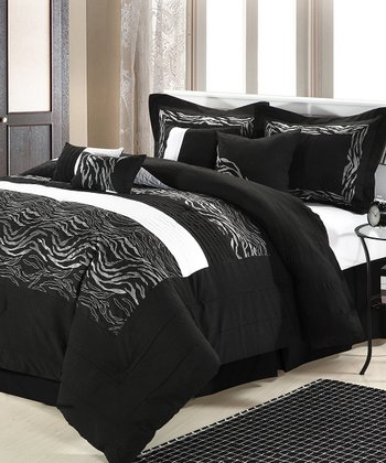Black & White Wave Comforter Set