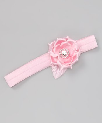 Pink Sequin Bloom Headband
