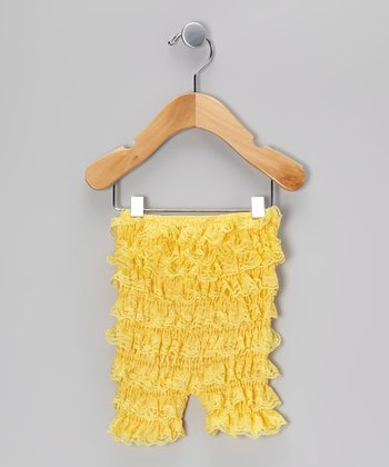 Yellow Ruffle Bloomers - Infant