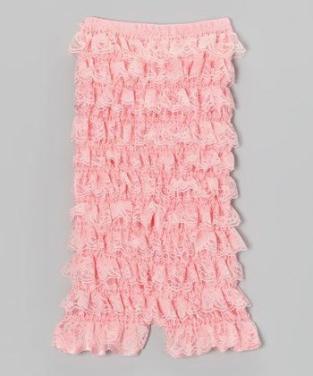 Light Peach Ruffle Short Romper - Infant, Toddler & Girls