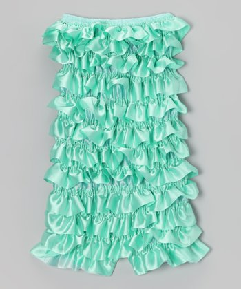 Light Aqua Ruffle Romper - Infant, Toddler & Girls