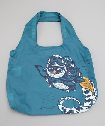 Blue Migrate South Vita DesignByHumans Tote