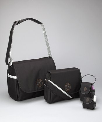 Child Speed Black & Silver The Magnus Diaper Bag Set