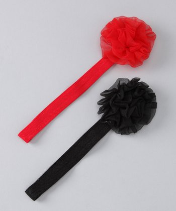Black & Red Hannah Headband Set