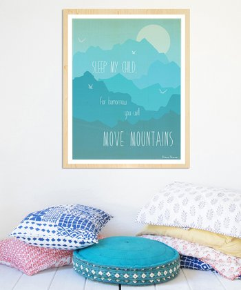 Blue 'Move Mountains' Print