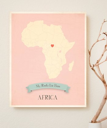 Africa Customizable Map Print