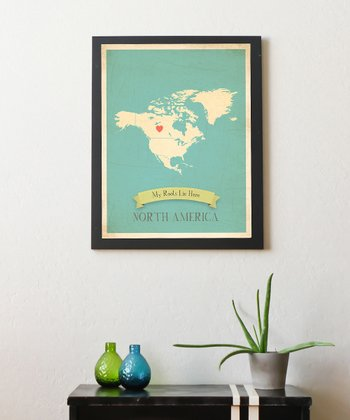 North America Customizable Map Print