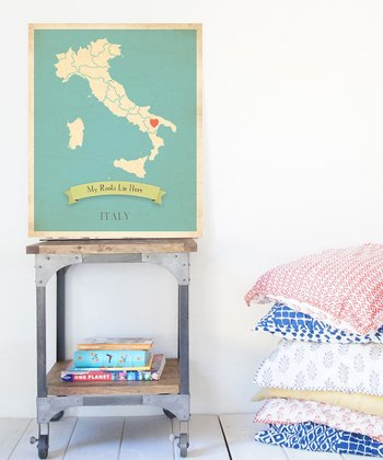 Blue Italy Customizable Map Print