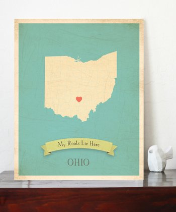 Ohio Customizable Map Print