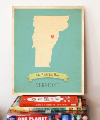 Vermont Customizable Map Print