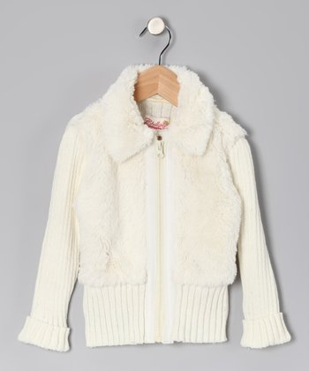 Vanilla Faux Fur Jacket - Toddler & Girls