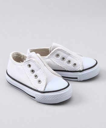 White Canvas Tennis Shoe