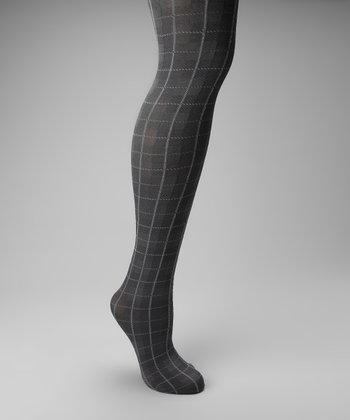 Charcoal Plaid Tights
