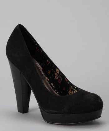 Black Suede Kooper Pump