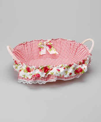 Pink Oval Basket