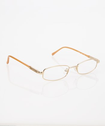 Gold Oval Eyeglasses
