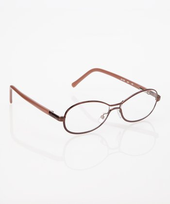 Chocolate Oval Shield Eyeglasses