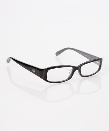 Black & Gray Thick Frame Rectangle Eyeglasses