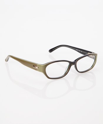 Green Dark Rim Eyeglasses