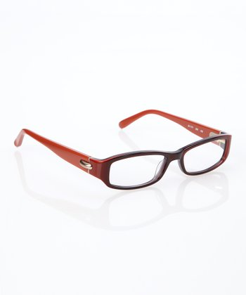 Toffee Oval Frame Eyeglasses