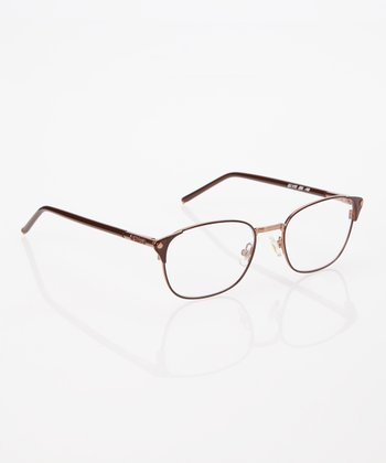 Nut & Copper Square Frame Eyeglasses