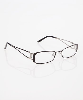 Black Split Arm Eyeglasses