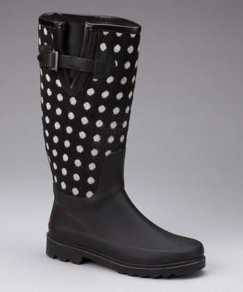 Dotty Fabric Upper Rain Boot