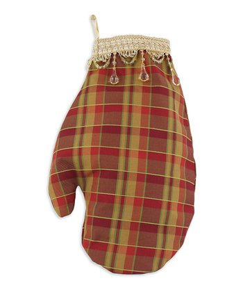 Crimson & Wheat Gingham Saybrook Mitten