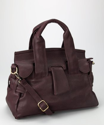 Burgundy Structured Tote