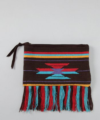 Brown & Turquoise Tribal Clutch