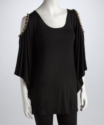 Black Chain Cutout Tunic