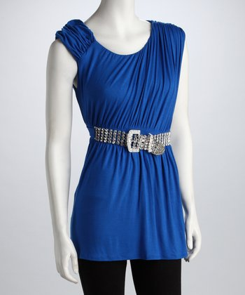 Royal Blue Ruched Tunic