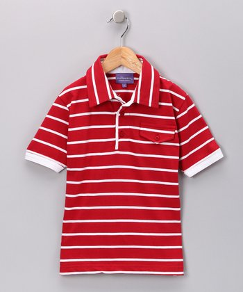Red Stripe Polo - Toddler & Boys