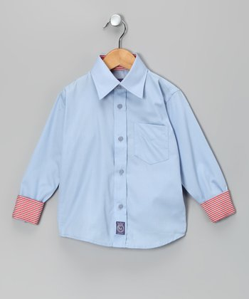 Blue Oxford Woven Button-Up - Infant, Toddler & Boys