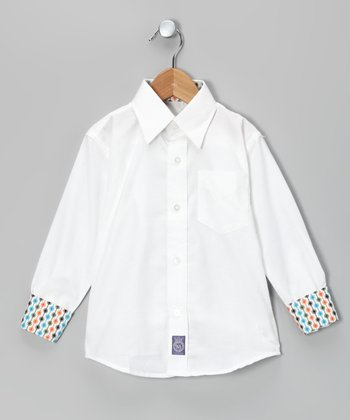 White Oxford Woven Button-Up - Infant, Toddler & Boys
