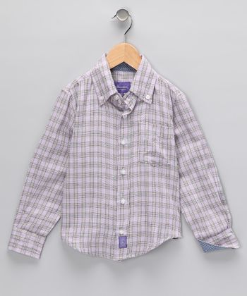 Purple Plaid Button-Up - Toddler & Boys