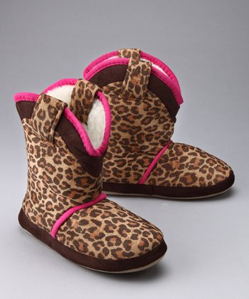 Little Leopard Cowgirl Slipper
