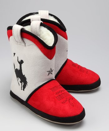 Cowboy Up Slipper Boot - Kids