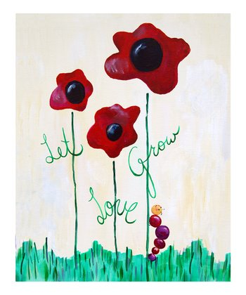 Tan 'Let Love Grow' Print