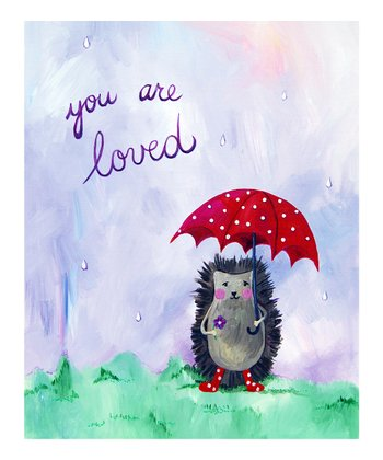 Lavender 'You Are Loved' Print