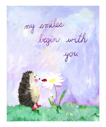 Lavender 'My Smiles Begin with You' Print