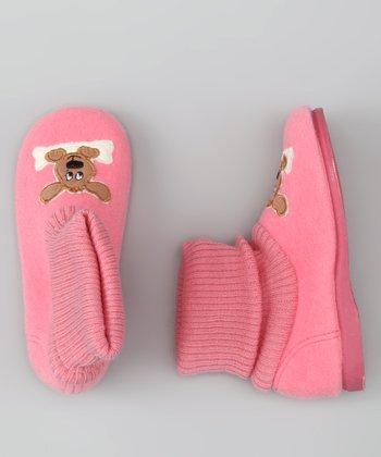 Cienta Pink Dog Slipper