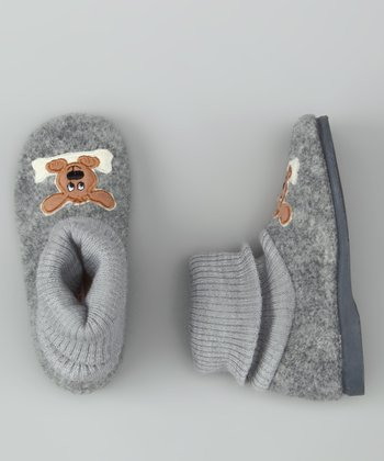 Cienta Gray Dog Slipper