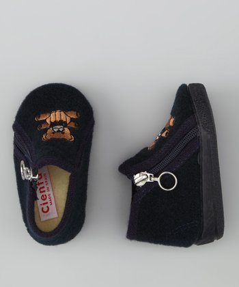 Cienta Navy Bear Slipper