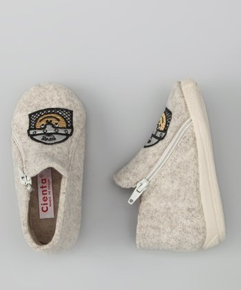 Cienta Beige Knight Bootie Slipper