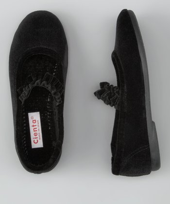 Cienta Black Ballet Slipper
